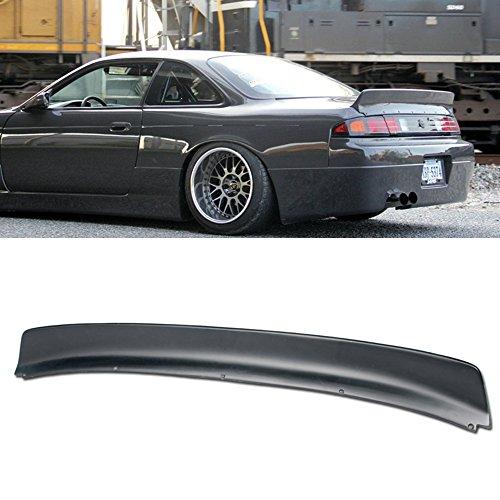 Wing Nissan 240sx Spoiler (VXMOTOR Fit 95-98 Nissan 240SX S14 Bunny Style Unpainted Rear Wing Spoiler Kit Trunk Lip 1995 1996 1997 1998)