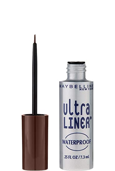 a6943fc852a Amazon.com : Maybelline New York Ultra Liner Waterproof Liquid Eyeliner,  Dark Brown, 0.25 fl. oz. : Eye Liners : Beauty