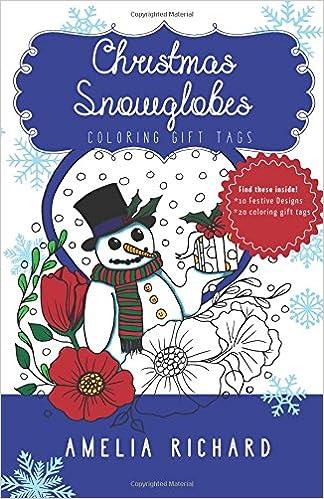Christmas Snowglobes.Amazon Com Adult Coloring Book Christmas Snowglobes