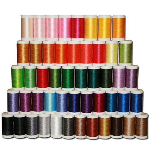 Designio by Brother SA650 50-Piece High-Sheen, Polyester Embroidery Thread Set by Brother Sewing
