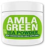 Amla Green Tea Superfood Antioxidant Powder | 20x Amla Concentrate + Dark Green Oolong Tea (Organic Amla, Vegan, Raw, Non-GMO, Wild Harvested) (30 Servings, Regular)