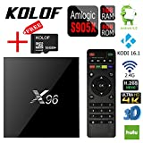 KOLOF S905X X96 Android 6.0 Smart TV Box Kodi 16.1 1G 8G Streaming Media Player