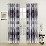 "twopages Modern Print Tree Grommet Top Room Darkening Curtain (One Panel) 72Wx63""L"