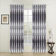 "twopages Modern Print Tree Grommet Top Room Darkening Curtain (One Panel) 72Wx102""L"