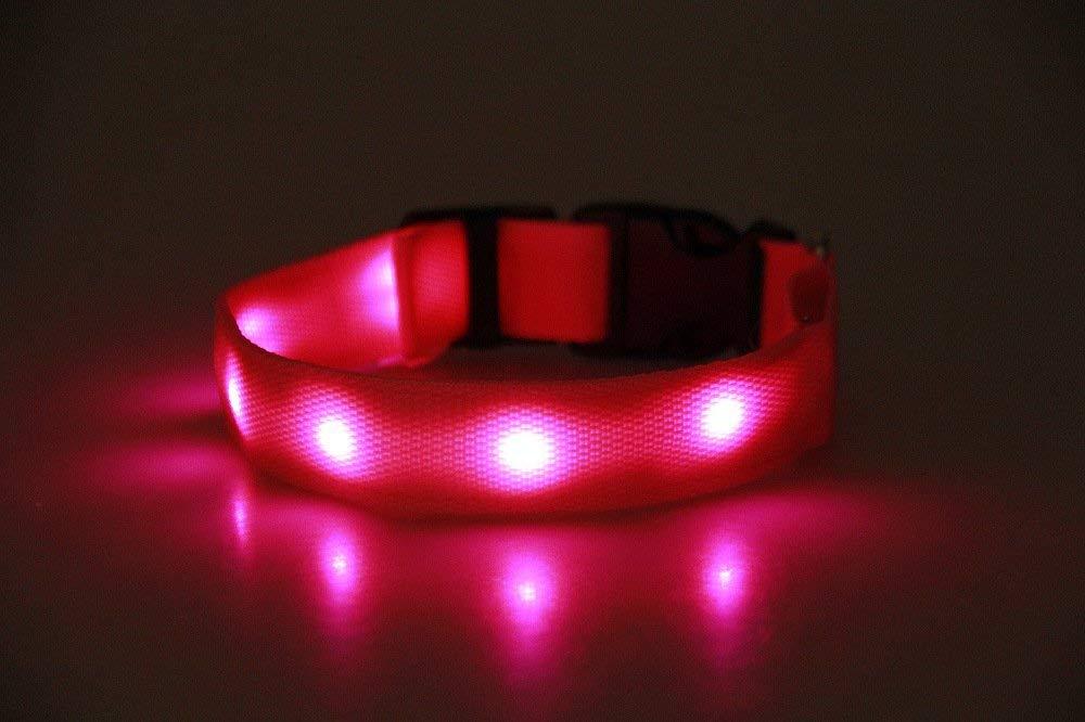 Cat Furniture for Kittens TIANLIANG04 Pet Pet Collar Light Emitting USB Charging Luminous Small Large Dog Collar Dog and Cat Collar,L,Light Pink