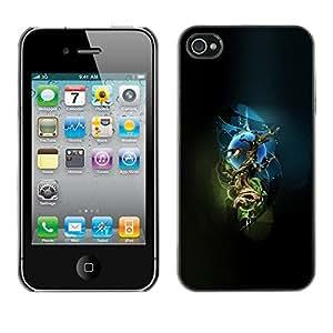 TECHCASE**Cubierta de la caja de protección la piel dura para el ** Apple iPhone 4 / 4S ** Mystical Tree