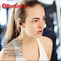 Wireless Earbuds,Dveda Bluetooth 5.0 3D Stereo Sound True Wireless Headphones with Charging Box Built-in Mic and Noise Cancelling Stereo for iPhone and Android by Dveda