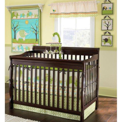 Elephant Parade 7 Piece Crib Bedding Set (Set Ashley Crib Sheet Laura)