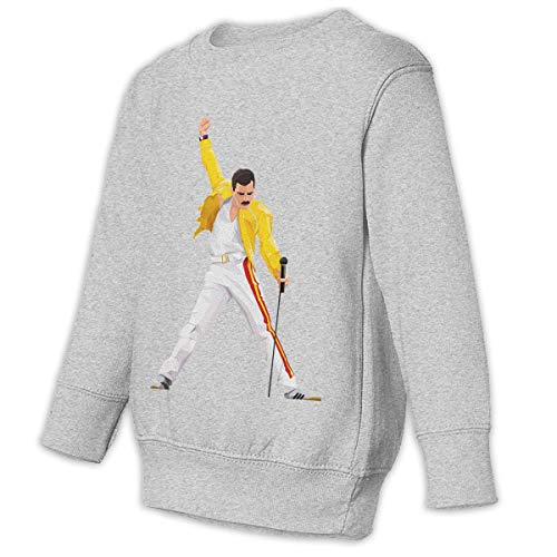 Romantic Fish Toddler Juvenile Bohemian Rhapsody Movie 6 Crew Neck Sweatshirt Gray 3T