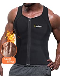 Men Sweat Waist Trainer Tank Top Vest Weight Loss Neoprene Workout Shirt Sauna