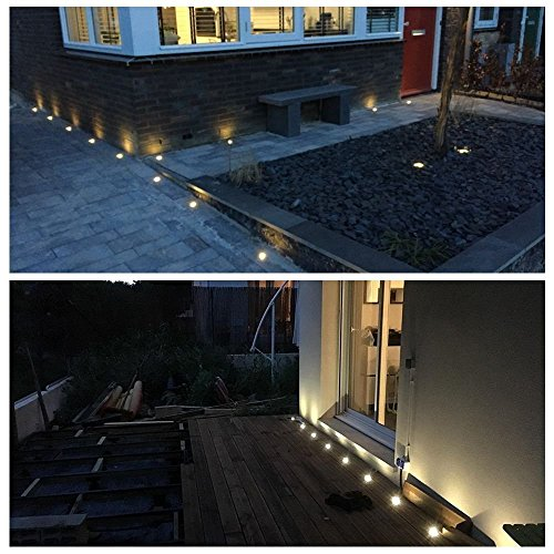 LED Deck Lights Kit, Low Voltage 30 pcs Waterproof IP65 Φ1.22'' Recessed Deck Lamp Warm White LED In-ground Lighting Outdoor Garden Yard Pathway Patio Step Stairs Landscape Decor Lamps, Red Bronze by Sumaote (Image #2)