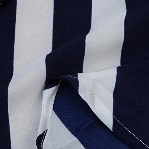 ec527c317f Qisc Women Strapless Tube Maxi Dress Summer Chiffon Striped Party Beach  Long Dresses (XL,