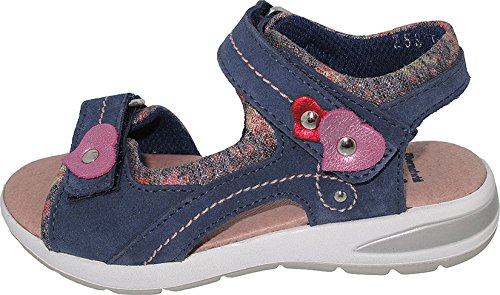 Helgas Modewelt Christiane, Däumling Sandale, Kinderschuhe, Sommerschuhe, Mädchen Sandale dunkelblau (Turino jeans)