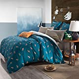 CASA Cotton Wrangler Duvet Cover & Flat sheet & Pillow Case,Super Soft,Duvet cover set,4 Piece,King Size