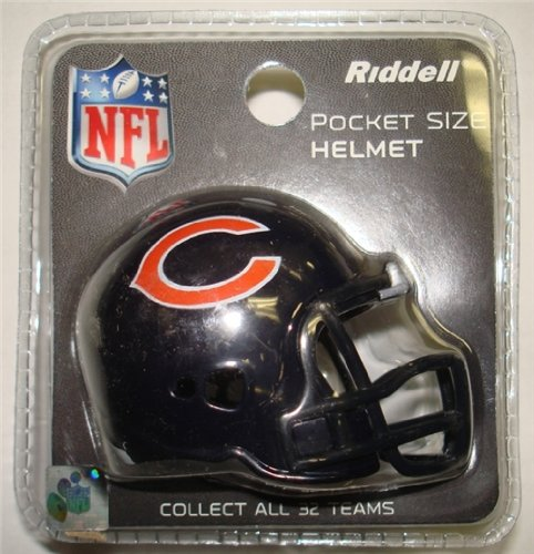 (Chicago Bears Riddell Revolution Pocket Pro Football Mini Helmet)