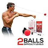NMFIT Boxing Reflex Ball, Boxing Ball with Adjustable Headband for Kids and Adults - Boxing Equipment for Speed Training, Boxing Stand and Fitness, Punching Ball To Improve Fight Reaction and Agility