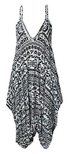 Femmes 20 Combinaison 10 Aztec Lanières Baggy Wearall Caraco Robe Haut Lagenlook À Sarouel Big H92EDI