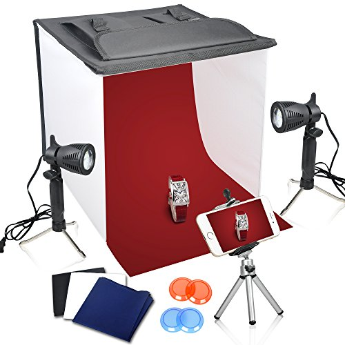 Emart 16 x 16 Inch Table Top Photo Photography Studio Lighting Light Shooting Tent Box - Set Up Photo Booth