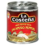 La Costena Green Pickled Sliced Jalapeno Peppers, 7-Ounce Cans (Pack of 24)