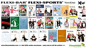 FLEXI-BAR® Standard + Einführungs-DVD + Trainingsplan + 30 Tage ALLE...
