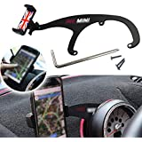 KEENICI Car Phone Mount Cell Phone Cup Holder with 360° Rotatable Cradle for Mini Cooper R60 R61 1 Pack (Red & Blue Union Jack UK Flag Style)