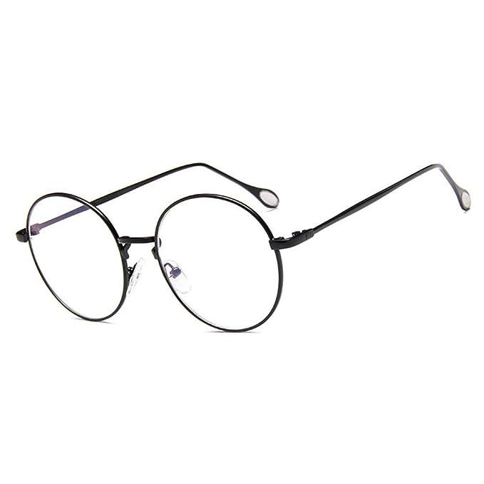 91663f6b4fdd5 Montura Gafas para Unisex Hombre y Mujer con Montura de Metal-acero Fino  Retro Vintage Lente Transparente  Amazon.es  Ropa y accesorios