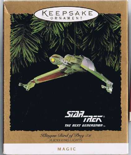 Star Trek Klingon Bird of Prey Christmas Ornament with Flickering Lights