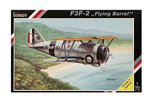 Special Hobby F3F2 Flying Barrel Biplane Fighter Airplane Model Kit (1/72 Scale)