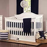 DaVinci Meadow 4-in-1 Convertible Crib with Toddler Bed Conversion Kit in White | Greenguard Gold Certified