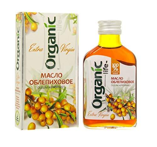 Premium Natural Siberian Sea Buckthorn Oil Dietary Supplement For Internal & External Use With Omega-3, Omega-6, Vitamins B1, B2, B3, B6, B9, 3.38 oz / 100 ml