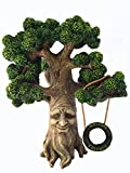 Fairy and Garden Gnome Tree – Enchanted Grandpa Miniature Tree with Removable Glow in the Dark Welcome Sign for Fairies and Lawn Gnomes For Sale