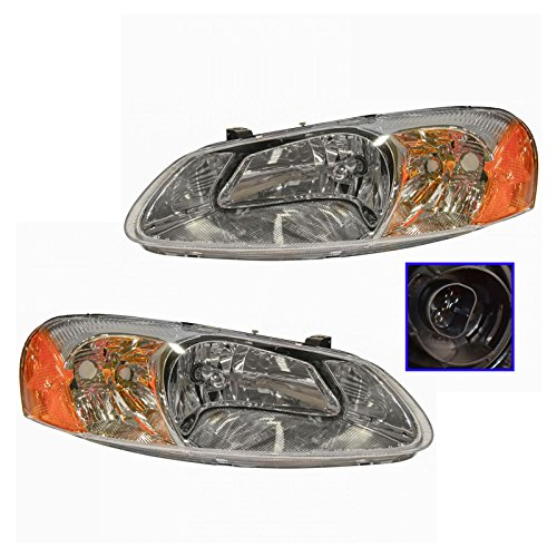 Dodge Stratus Set - Headlights Headlamps Left & Right Pair Set for Chrysler Sebring Dodge Stratus