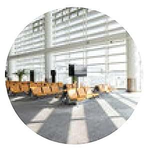my-puzzle-design alfombrilla de ratón interior de sala de espera de un aeropuerto moderno - ronda - 20cm