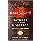 Billington's Natural Dark Brown Molasses Sugar, 16-Ounce Bags (Pack of 10)