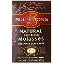 Billington's Natural Dark Brown Molasses Sugar, 16-Ounce Bags (Pack of 10)
