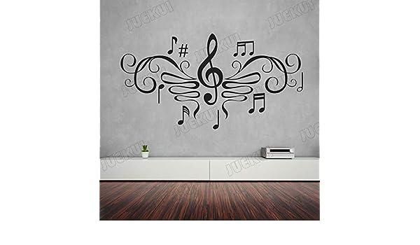 Notas Musicales Patrón Elegante Extraíble Pegatinas de Pared ...