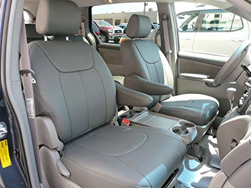 Clazzio Leather Seat Covers For 2015+ Toyota SIENNA LE / SE (Toyota Sienna Leather)