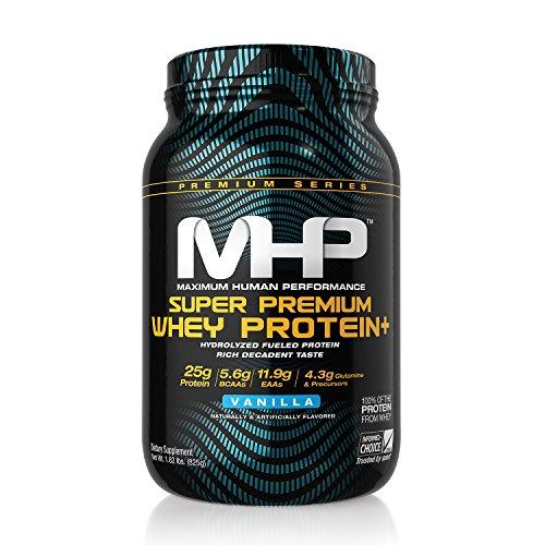 Super Premium Protein - MHP, Super Premium Whey Protein+, Vanilla, 1.82 Pound