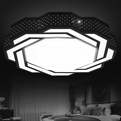 BLYC- Kreative Mode LED Decke Lampe Wohnzimmer Lampe geformte schmiedeeiserne moderne minimalistische Schlafzimmer Lampe warmen Esszimmer Lichtdurchmesser 550 / 700mm Höhe 90mm , diameter 55cm