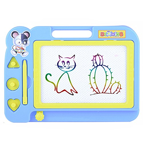 TSWA Magnetic Doodle Board, Color Sketching Drawing Board, Erasable Pad for Toddlers, Educational Toys for Kids Writing Painting and Learning