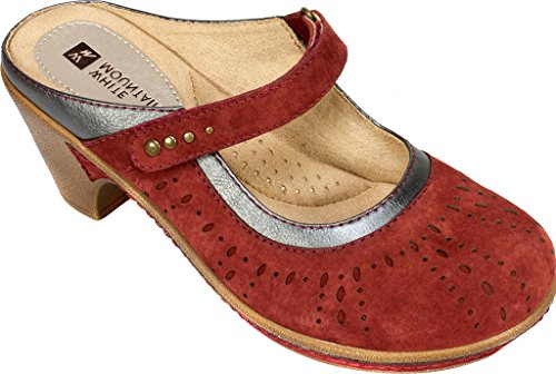 Chaussures De Montagne Blanches Mouette Womens Mule Maroon