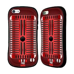 Head Case Designs Red Rock Vintage Microphones Hybrid Gel Back Case for Apple iPhone 5c