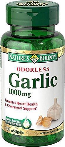 Nature's Bounty Odorless Garlic 1000mg, 800 Softgels Bounty -3h