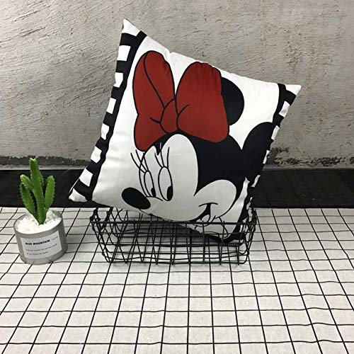 NATTEL Unstuffed 4040cm Mickey Mouse Pillow Cover Minnie Mouse Pillow Case Mickey and Minnie Plush Pillow Cartoon Cushion Case Sofa