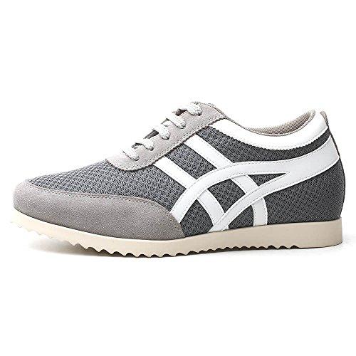 Sneakers Cuir Homme Grandit cm de Grey Chaussures 6 en Rehaussantes CHAMARIPA H62305K051D Hautes DE U0EqRw
