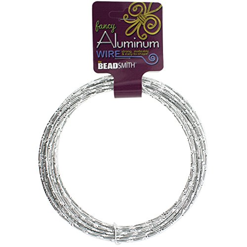 d Cut 12 Gauge 12 Meter/Pkg (39.25')-Silver (Aluminum Bead Jewelry)