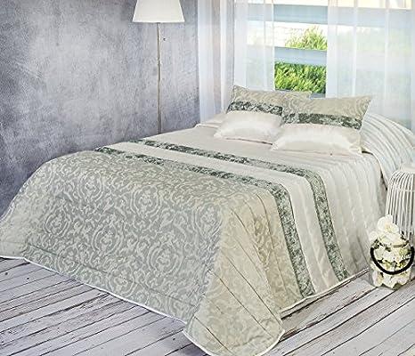 Algodón Blanco Colcha Bouti Jacquard, Verde, 235 x 270 cm 60 x 40 ...