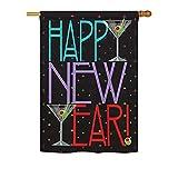 New Year Martini Large House Flag 28
