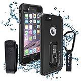 iPhone 6/6S Plus Waterproof Case,IP68 Ultimate waterproof case for iPhone 6/6s Plus with carabiner (Black)
