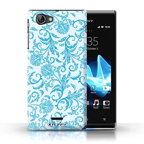 Etui / Coque pour Sony Xperia J (ST26i) / Fleurs Bleues conception / Collection de Fleurs